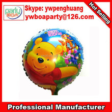 New style fashion heart shape red bear shape nylon balloon