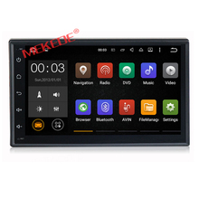 2din Universal Android7.1 car cassette player with 4G Internet audio cassette player gps navigator dvd player support usb SD