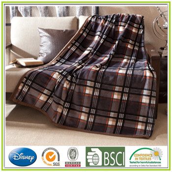 China Polyester Woven Fabric Flannel Blanket