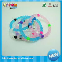 pink blue white color Silicone mud bead bracelets with Dead Sea Everest jewelry