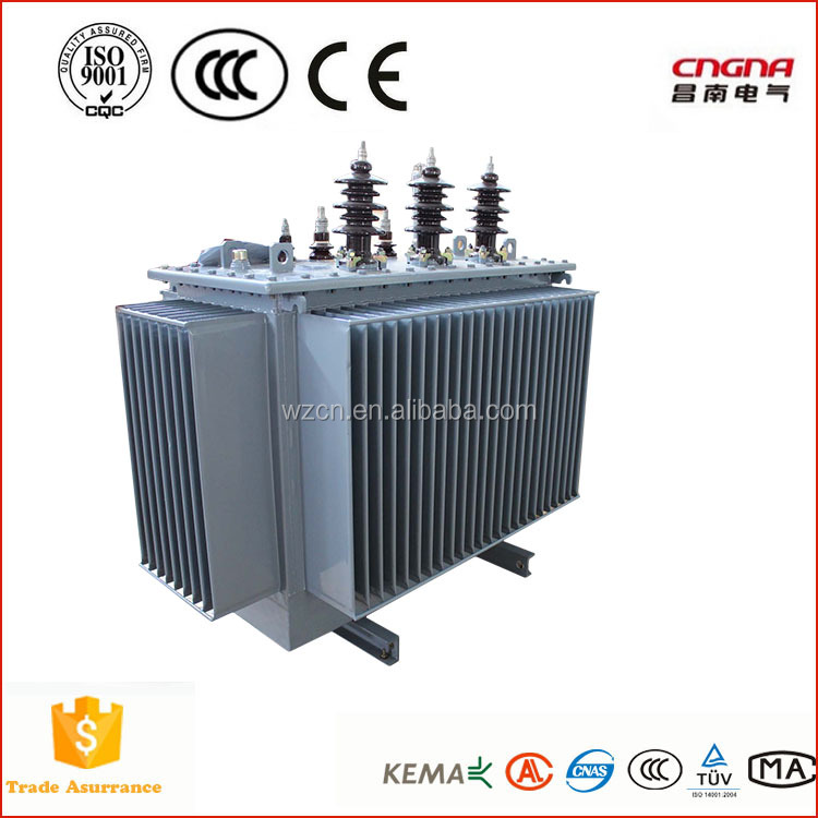 Power Usage and oil cooled 33kv 315kva 3 phase oil Immersed Power Transformer