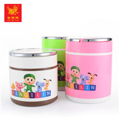 high quality food storage square stainless steel school lunch box for student use