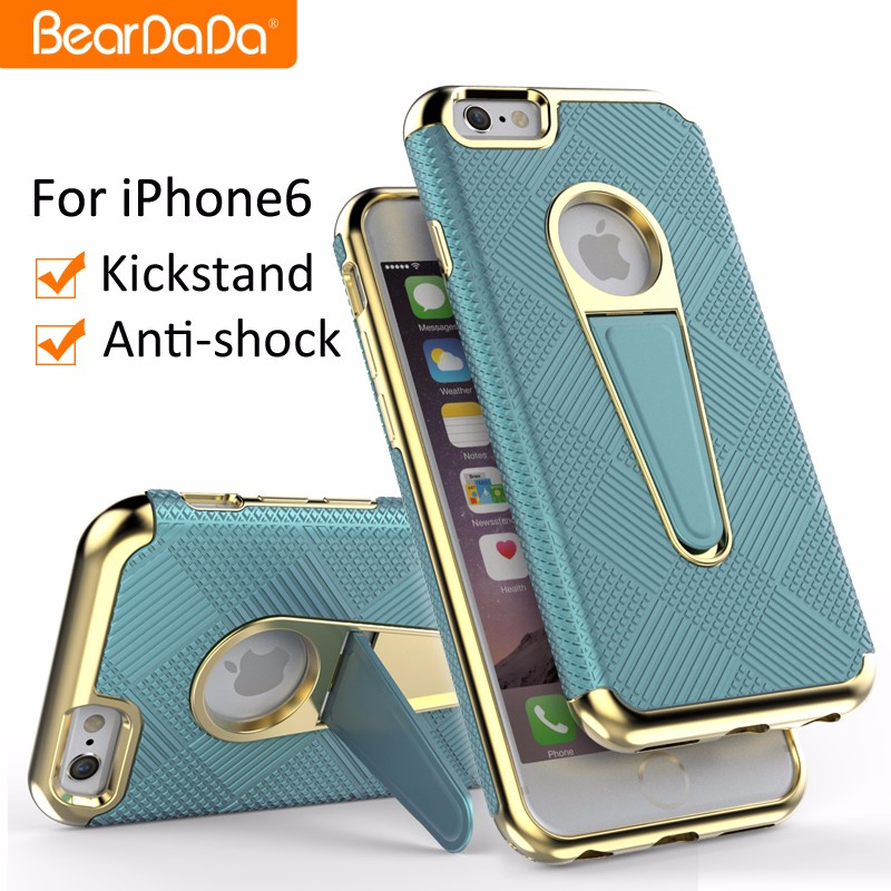 Latest design kickstand sublimation for iphone 6 cases