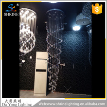 Guzhen Lighting Supplier Luxury Crystal String Chandelier For Hotel Indoor Decoration