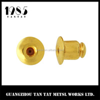 Wholesale Classic Style Bullet Clutch Earring Backs, Gold Earring Back