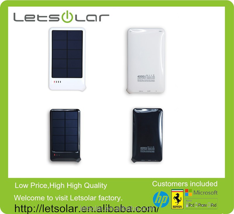 China manufacturer wholesale price 4000mAh universal portable charger solar mobile phone charger for smartphones and tablets