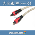 Plastic slider Toslink digital audio optical fiber cable for various applications