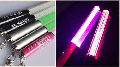 Led light saber keychain