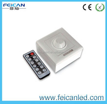 hot market CE,ROHS, 10A wall mounted LED rotary dimmer/IR 12key led dimmer