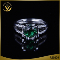 Wholesale refined diamond silver jewelry, luxury gemstone ring for engagement