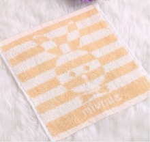 Promotional cute terry cloth and jacquard 100% cotton hand towel