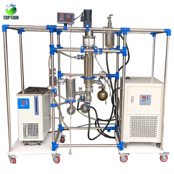Continuous feed lab short path distillation equipment