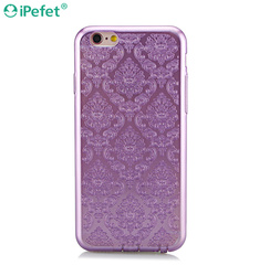 New arrival Shiny Palace Flower Soft TPU case for iPhone 6 case