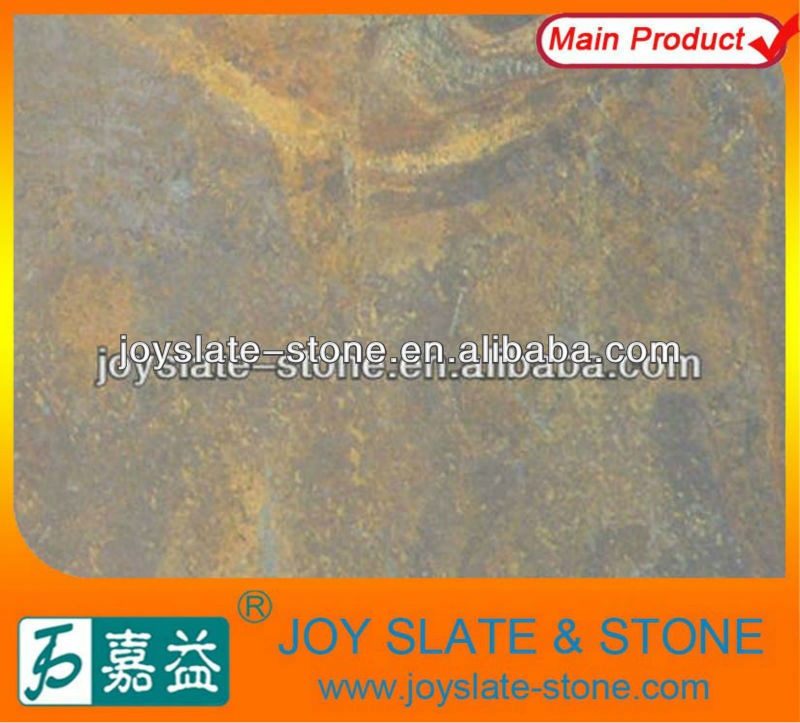 Natural slate rust colored floor tile