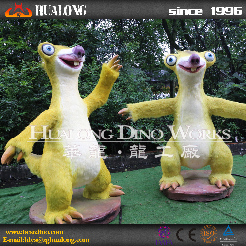 Theme Park Decoration Realistic Plastic Animal Life Size