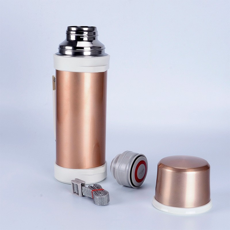 two parts stainless steel vacuum travel pot insulated stainless steel vacuum jug