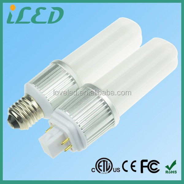 360 Degree U Shape LED PL Corn Light 18W CFL Equal 950lm 120-277V 9W E27 G24Q-3 LED PL 4pin Lamp