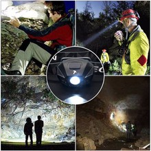 Rechargeable USB 120LM headlamp , portable LED head light for outdoor sports