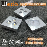 etl wedo lighting Square Wardrobe light Recessed 3w led for Cabinet downlight Kitchen/Show Case