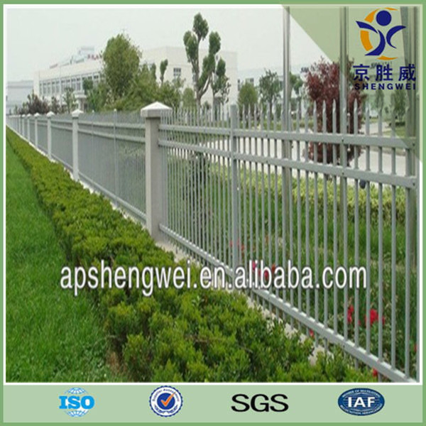 Wall boundary 19x19mm pipe metal fencing for residential place
