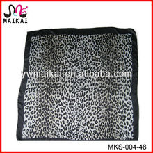 Ladies summer hot fashion 90x90 novel leopard print silk headband scarf