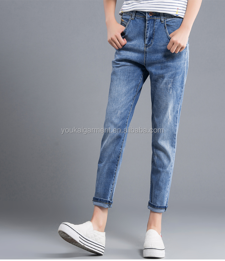 wholesales jeans women plus size show thin young girls skinny denim harem jeans pants