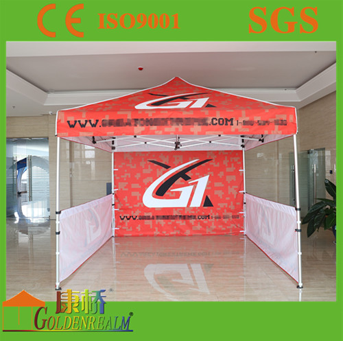 easy set up tent commercial outdoor printed canopy/Outdoor Commercial Gazebo Tent/ Metal Roof Aluminum