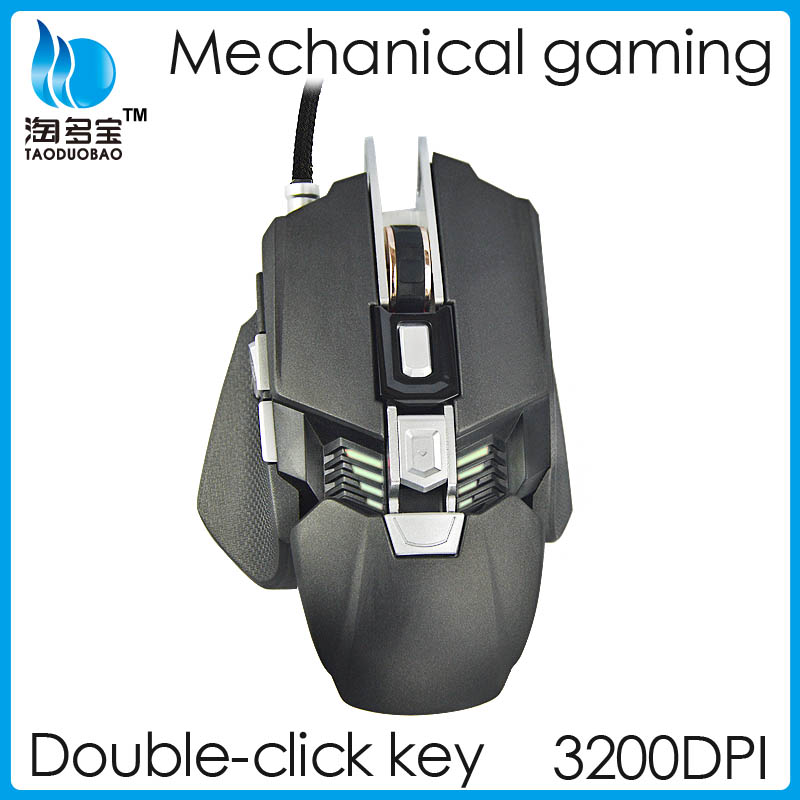 Hot Sale Big Hand Ergonomic Drivers USB 7D Gaming Mouse with Adjustable CPI for Gaming