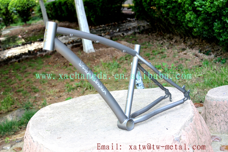 titanium mtb bike frame 44mm head tube Titanium mountain bike frame custom 2017 new design MTB bike