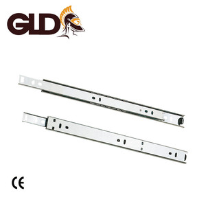 27mm high quallity electroplate 2-fosoft closing kitchen cabinet drawer slide channel cold rolled steel ball bearing slides