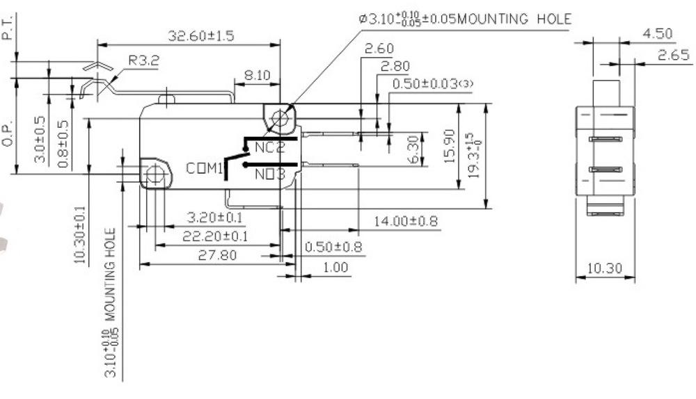 mini timer no nc push button limit 4 pins electric joystick micro switch