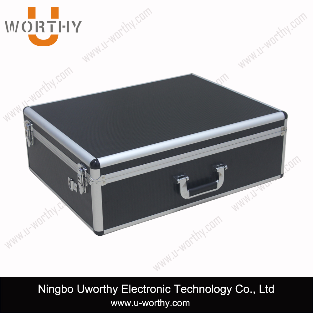 2015 alibaba best selling vinyl record carry case aluminum flight storage case, aluminum cd case