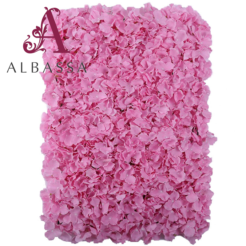 new hydrangea artificial flower wall for wedding stage background decoration large flowers row