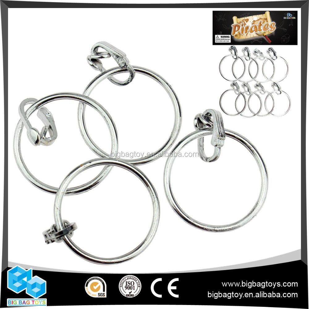 Hot Sale silver marketing gift items promotion pirate earing 8PCS for boys