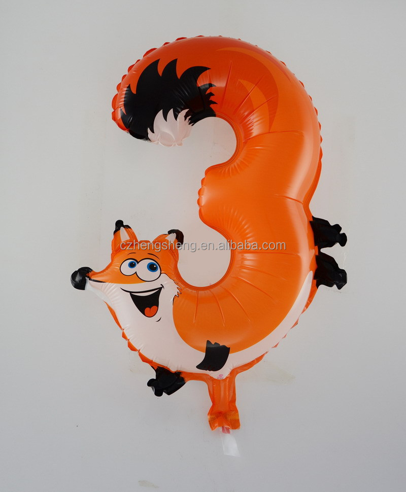 Best selling cartoon characters numberl balloom marriage decoration