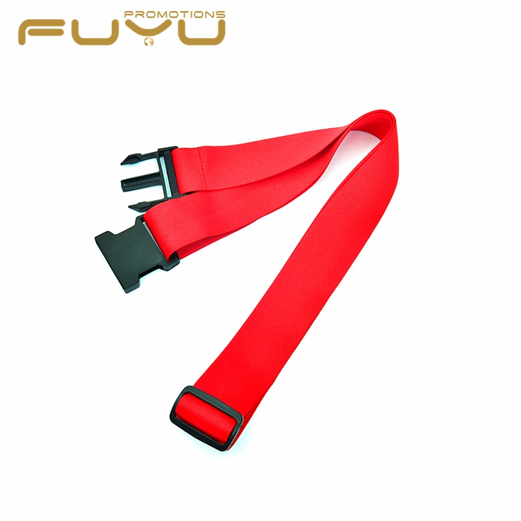 Wholesale popular retractable cheap personalize red color baggage strap for sale