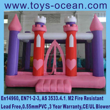 EN14960 new design Princess inflatable castle,cheap moonwalk inflatable jumping bouncers for sale