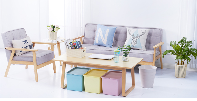 2019 New product clothes storage boxes children's toy storage box 4pcs large storage box plastic