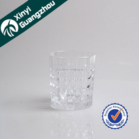 Art carved patern sandblast drinking glass cup/machine engraved glass tumbler whisky glass in stock
