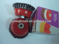 high quality steel wire cup polishing brush