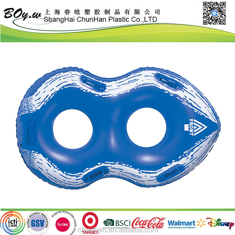 China Factory OEM inflatable twin swim ring double swimming float baby infant swimming float ring