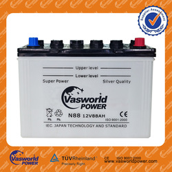 High quality 12V 88AH dry battery 12v dry charged battery car battery