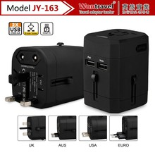 JY-163 vip promotional gifts travel plug adaptor with 2 usb, world adapter Thailand plug adapter innovated gadget