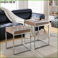 Set of 2 Nesting Tables End Table Accent Side Table/Homex_BSCI
