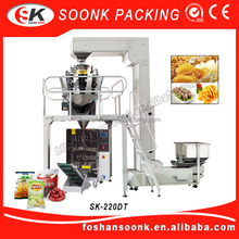 Weighing Automatic Potato Chips Snack / Cashew Nut Packing Machine