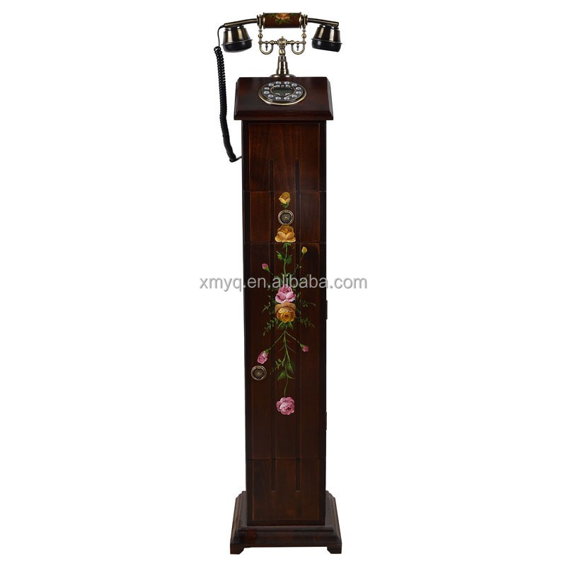 Decor Dropship Home Floor Telephone Wholesale Wooden Home Decor