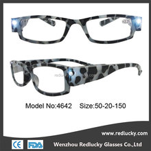Prime , high quality led light reading glasses with case