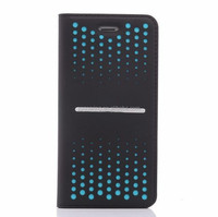 Mobile phone wallet case for iphone 6 metero shower design case