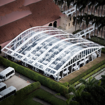 GSLH-12 12x30 big temporary vip clear roof arch tent