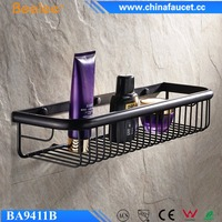Beelee 45cm Oil Rubbed Bronze Bathroom Shelf Cosmetic Shower Caddy Square Wall Basket